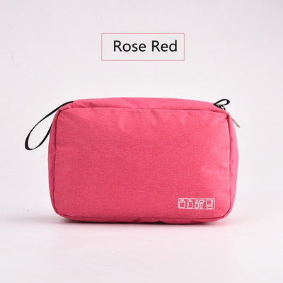 Toiletry Bag - Rose Red