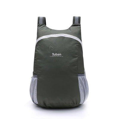 The Micro Foldable Water-Resistant Backpack - Grey - Backpack
