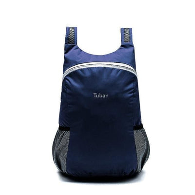 The Micro Foldable Water-Resistant Backpack - Navy - Backpack