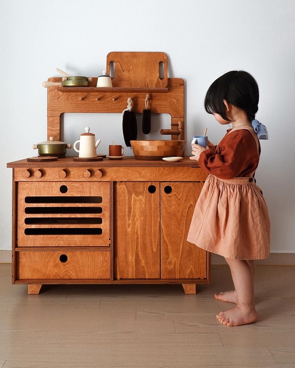 Montesori Mahogany Play Kitchen