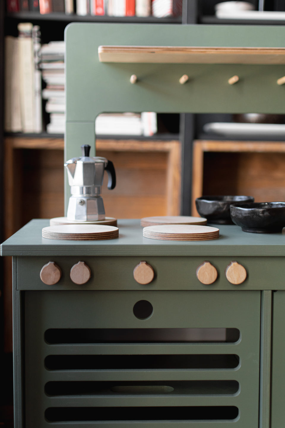 Dusty Green Wooden Play Kitchen