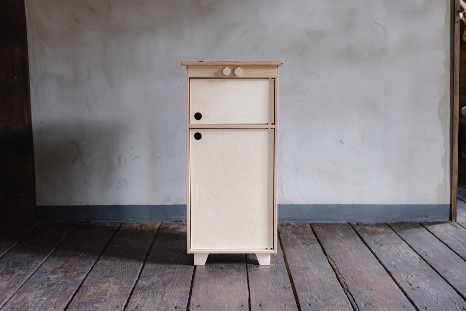 Mahogany Plywood Play Fridge