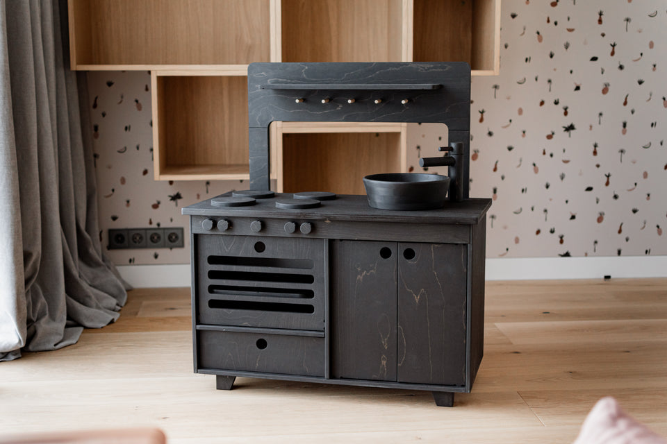 Royal Black Play Kitchen