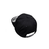 WICKED AUDIO HAT - BLACK SNAP BACK WITH WHITE LOGO
