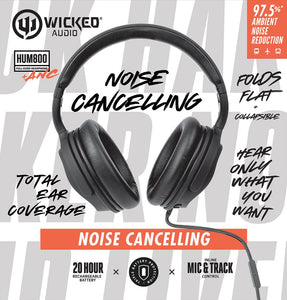 WICKED AUDIO HUM 800 WIRED ACTIVE NOISE CANCELLING
