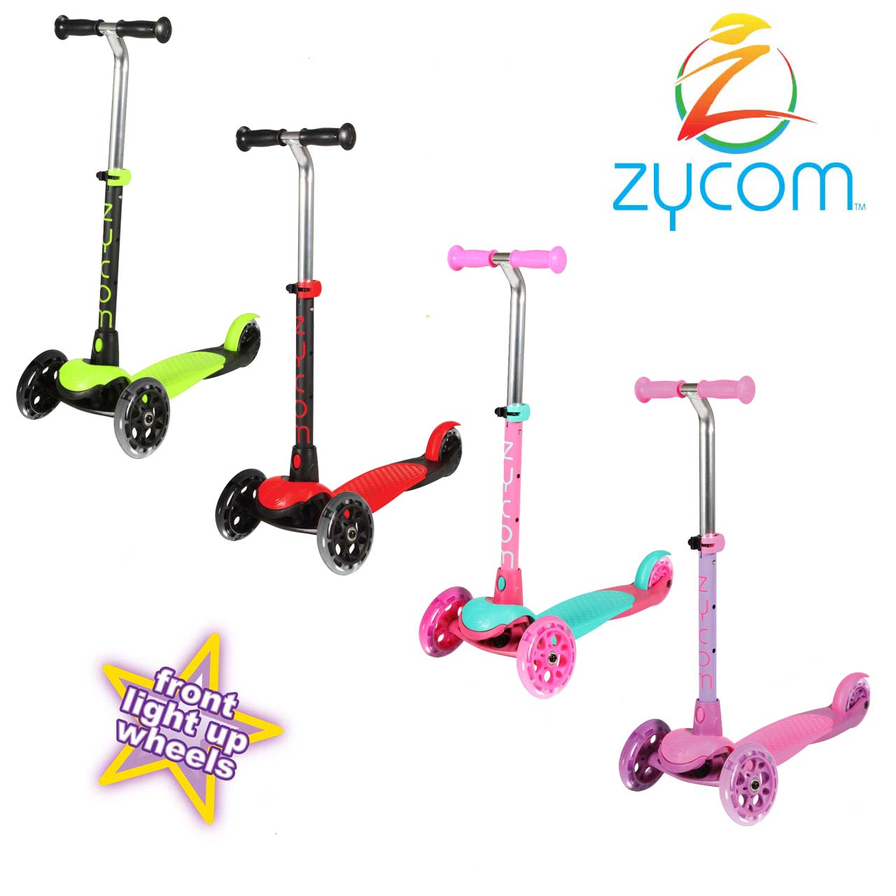 Zycom Zing 3 Wheel Scooter inc Light Up Wheels