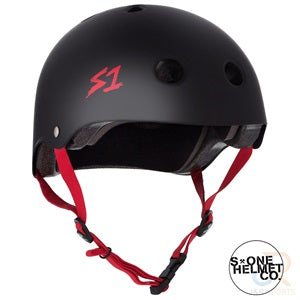 S1 Lifer Helmets - Black Matt inc Red Strap