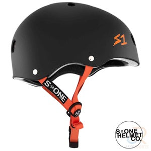 S1 Lifer Helmets - Black Matt inc Orange Strap