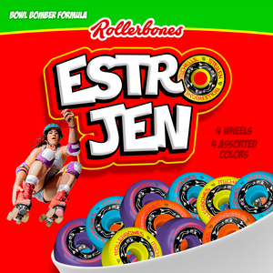 EstroJen Rollerbones Bowl Bomber Wheels 101a 62mm 57mm