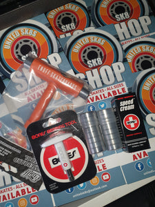 Skate Tool, Bearing Puller, 16 Abec7s, Speed Cream Service Pack