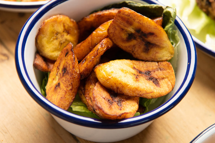 Food Delivery. Fried Plantain. Spinach and Agushi Supper Club