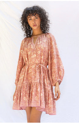 ESMERALDA PAISLEY DRESS