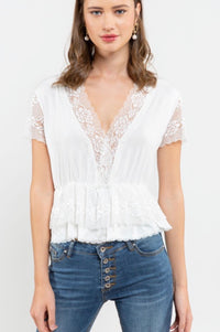 ANDIE LACE PEPLUM TOP