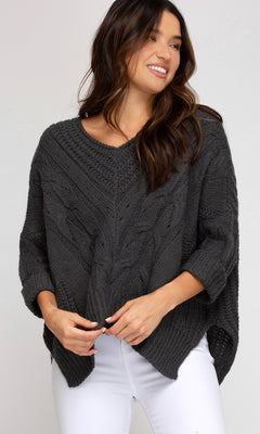 SAWYER CABLE KNIT SWEATER