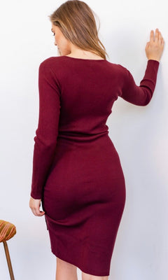 GABRIELLA BODY CON MIDI DRESS