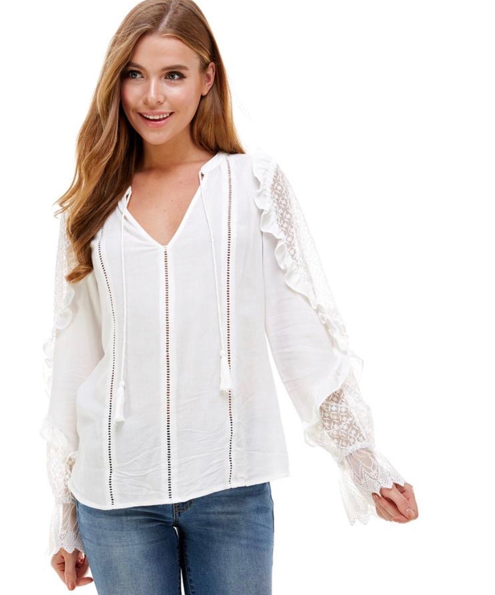 GINGER LACE LONG SLEEVE TOP