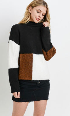 KARINA COLOR BLOCK SWEATER