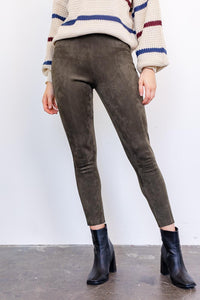 KATLYN FAUX SUEDE LEGGINGS