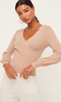 LYDIA SURPLICE SWEATER