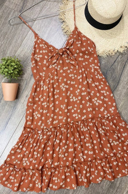 DAISY TIE FRONT DRESS