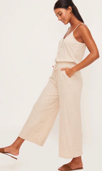 LAYLA CREAM SLEEVELESS JUMPSUIT