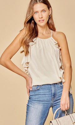MELANIE RUFFLED TOP