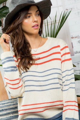 RILEY MULTI STRIPED SWEATER