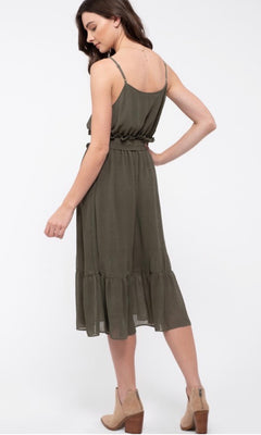 COURTNEY SLEEVELESS MIDI DRESS