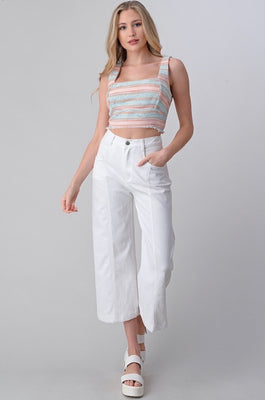 ANSON WIDE LEG CROPPED PANTS