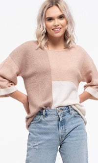CHELSEA COLOR-BLOCK SWEATER