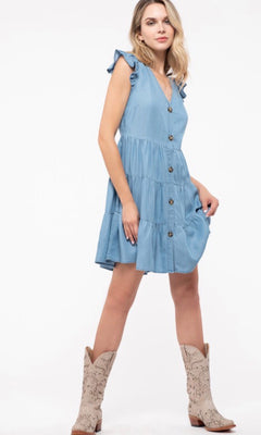 ANGELA TIERED BABYDOLL DRESS