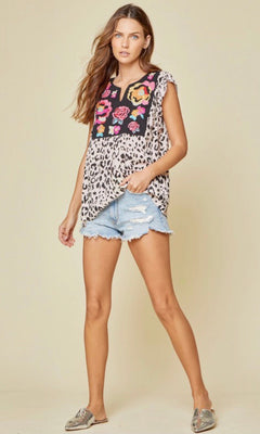 LET'S GET WILD LEOPARD TOP