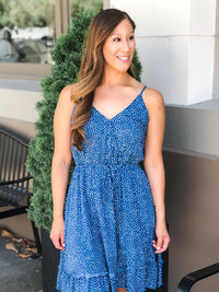 SKY POLKA DOT DRESS