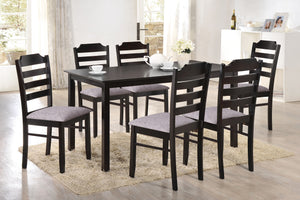 Vista Dinette Set with Fabric Chairs