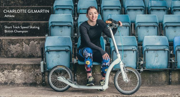 charlotte gilmartin, adult scooter, fitness scooter, work out scooter