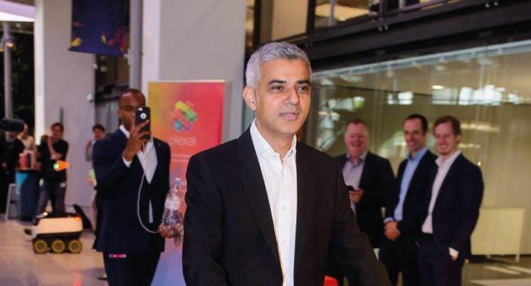 London Mayor Sadiq Khan rides our scooter