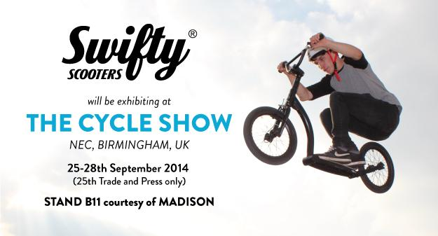 Swifty at the CYCLE SHOW NEC