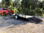 2019 Carry-On 7X12GWRS Treated Wood Utility Trailer with Side Ramps