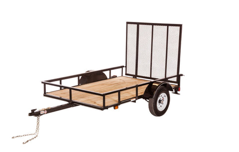 New 2019 Carry-On 5 X 8 SPW Treated Wood Utility Trailer