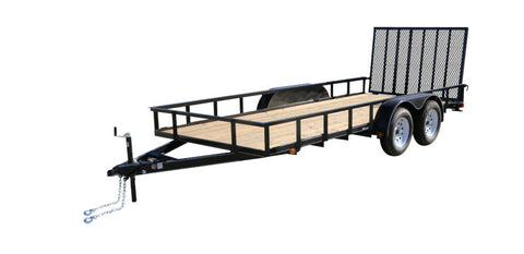 New 2019 Carry-On 6 X 16 GW2BRK Treated Wood Utility Trailer