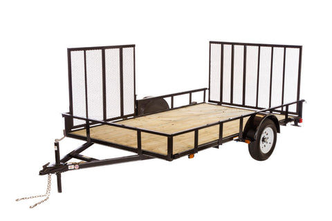 New 2019 Carry-On 6 X 12 GW ATV Treated Wood Utility Trailer with Side Ramp