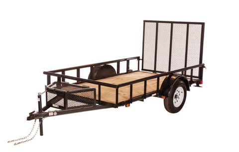 New 2019 Carry-On 6 X 12 GWPTLED Treated Wood Utility Trailer with LED Lighting