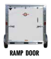 Back of New 2019 Carry-On 7 X 14 CGRCM7K Cargo Enclosed Trailer