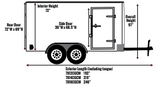 Side Measurements of New 2019 Carry-On 7 X 14 CGRCM7K Cargo Enclosed Trailer