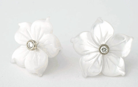 Casablanca Lily earrings with Sterling Silver fittings