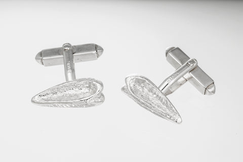 Arrowhead shaped Sepia Cufflinks - Sterling Silver