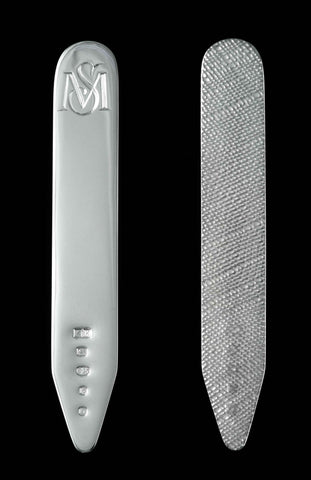 Silver Collar Stiffeners, hand-engraved, Sterling Silver
