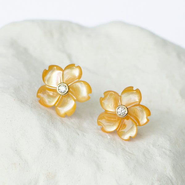 Tuscany yellow flower earrings
