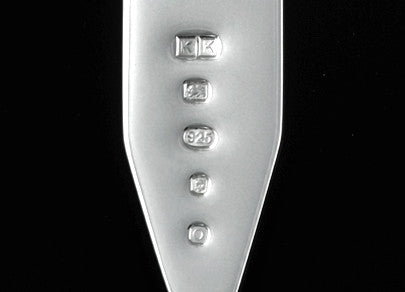 Collar stay London Hallmark Sterling Silver Karin Kraemer bespoke