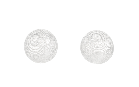 Round domed Sepia earstuds, Sterling Silver 10mm